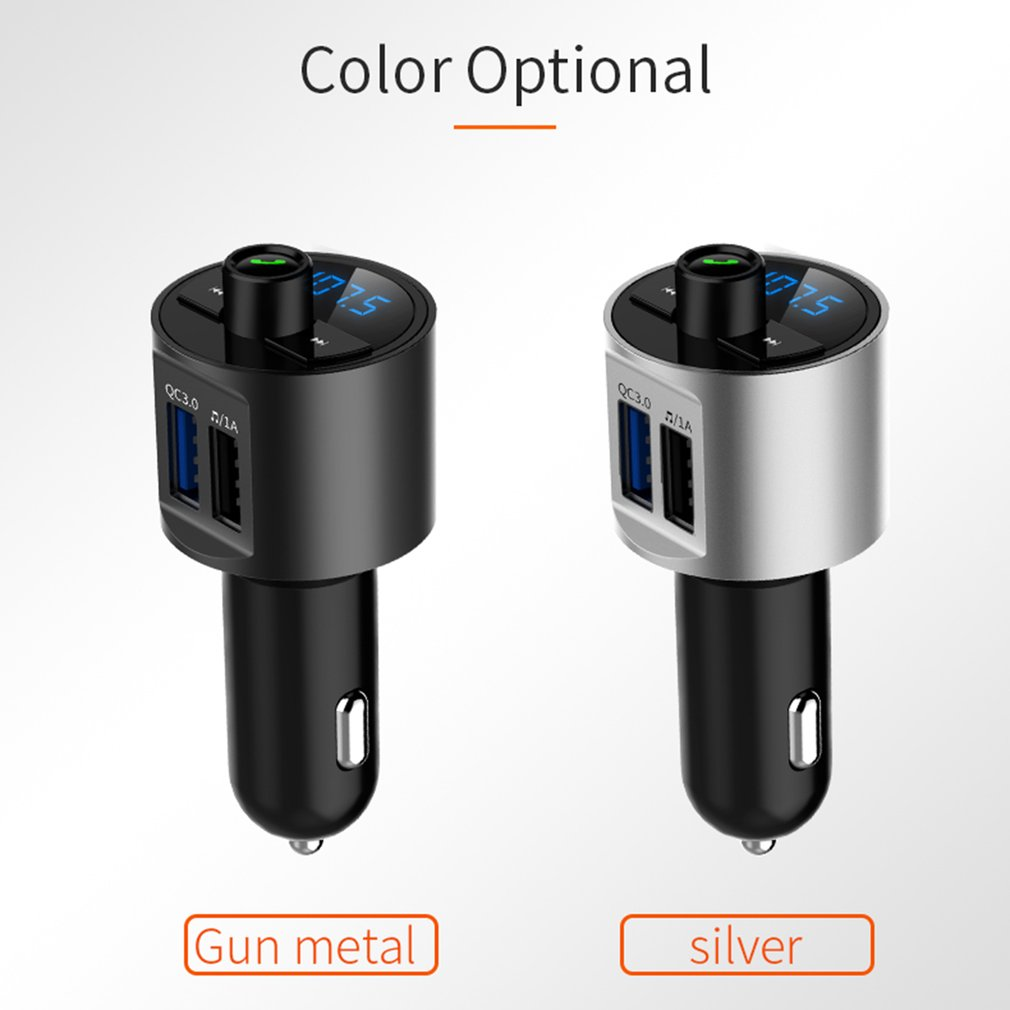 FM Transmitter Aux Modulator Bluetooth Handsfree Car Kit Car Audio MP3 Player With Quick Charge Dual USB Car Charge