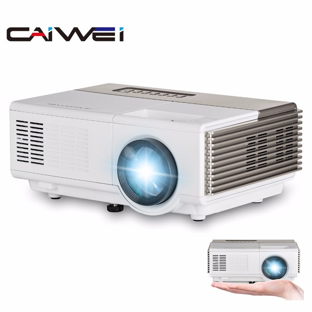 Best Price CAIWEI Portable Digital LED Mini Projector Home Theater Multimedia Game Movie LCD Proyecter HDMI VGA USB Wired Sync Smartphone