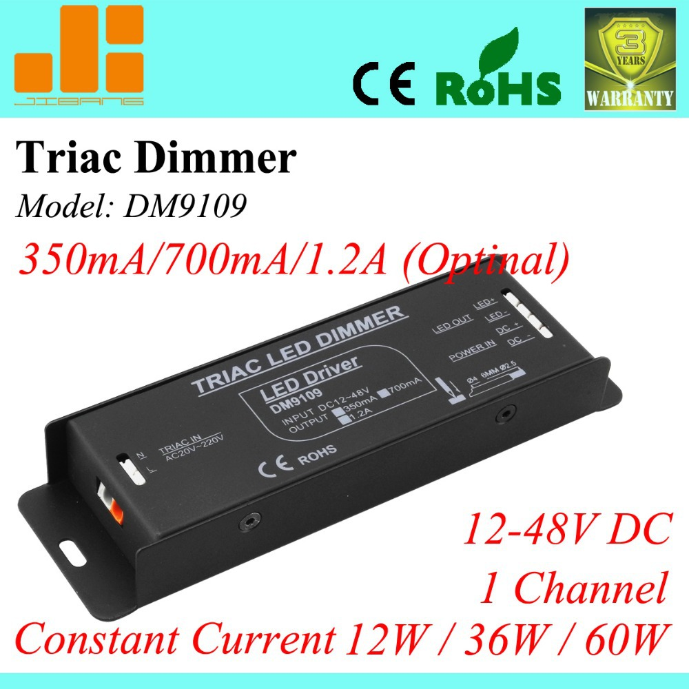 Free Shipping Triac led driver, Triac Dimmable LED driver 350ma/700ma/1.2A (Optional), 1channel dimmers DM9109 free shipping triac 220v dimmable driver triac dimming led controller 1 channel 75w dm9123h t series