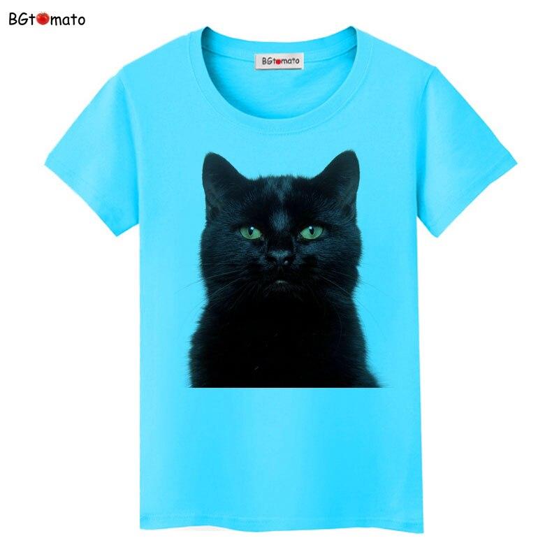BGtomato Hot sale black cat t-shirt casual top cool 3d printed t-shirts cheap sale clothes funny t shirt women shirt top tees