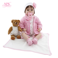 22in Reborn Baby Doll Kit American Girl Doll for Children's Day Gifts Realistic 55cm Princess Baby Reborn Brinquedos for Kids