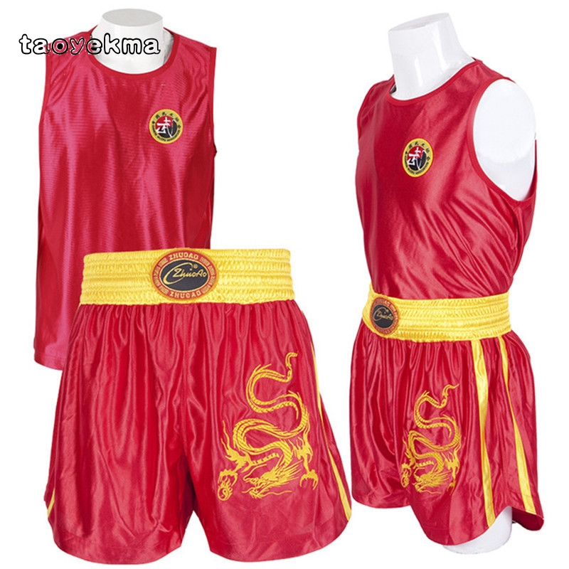 Martial Arts Wushu Clothing Suit Bruce Lee Kongfu Clothes Sanda Sets Tai Chi Uniform For Wing ChunTaekwondo Boxing Fitness Sport