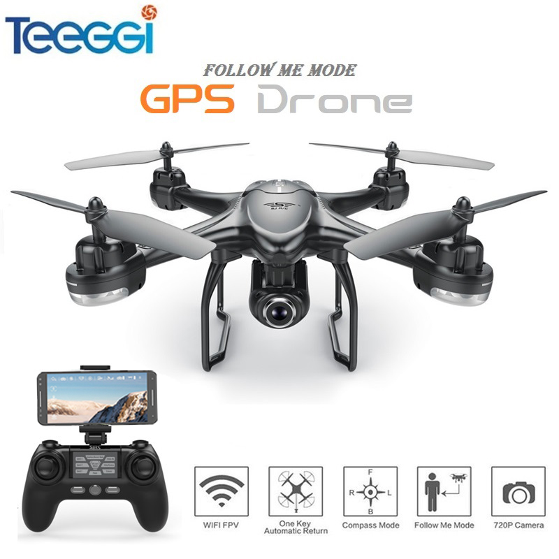 S30W Dual GPS RC Drone with 720P/1080P HD Camera WiFi FPV RC Quadcopter Follow Me One-Key Return RC Helicopter VS S70W X8PRO