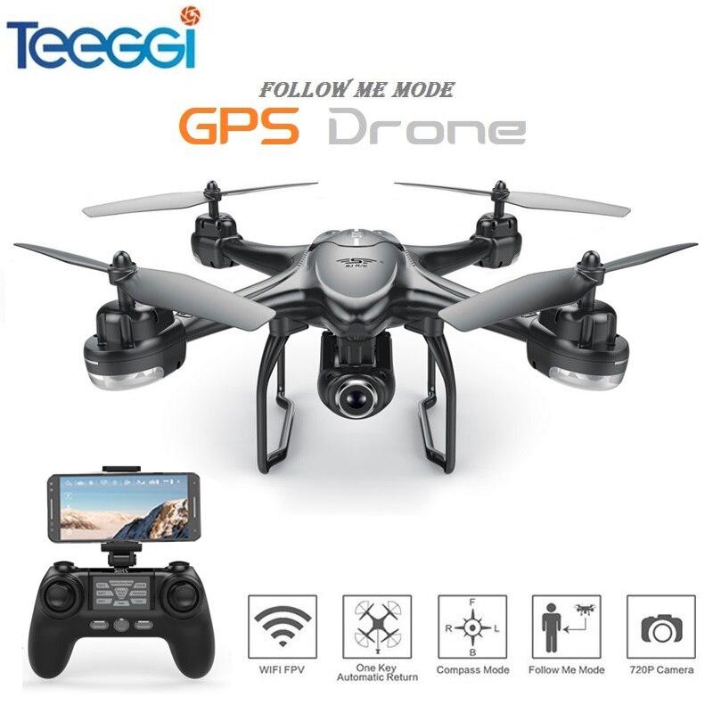 S30W Dual GPS RC font b Drone b font with 720P 1080P HD Camera WiFi FPV