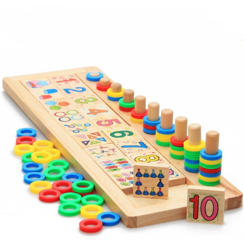 Numéro éducatif en bois calculer les jouets développementaux ressources pédagogiques lumières pour enfants jeux d'enseignement des mathématiques