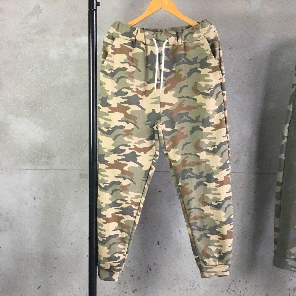 2019 Spring Fashion Men Sweatpants Camouflage Loose Harem Pants Male Plus Size Cotton Casual Trousers Jogger Pencil Camo Pants