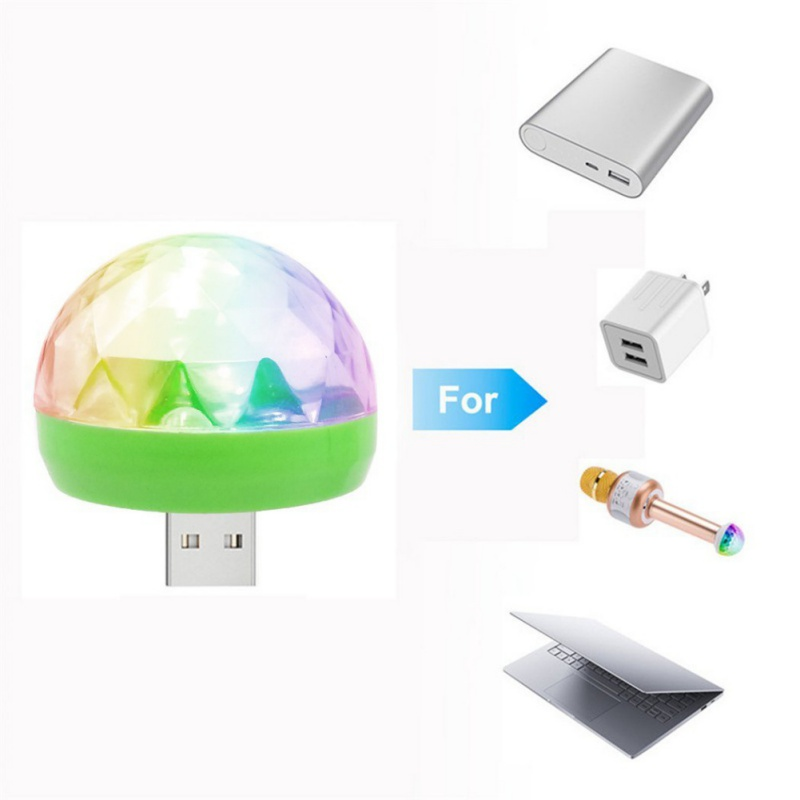 5W 5V USB Powered Mini RGB LED Disco Ball Shape Stage Effect Party Club DJ Light for Mobile phone,PC,pow bank 2018