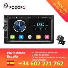 Podofo VEUR 7 »2din Android автомобильный Радио Стерео gps навигация Bluetooth USB SD 2 Din сенсорный мультимедийный плеер аудио