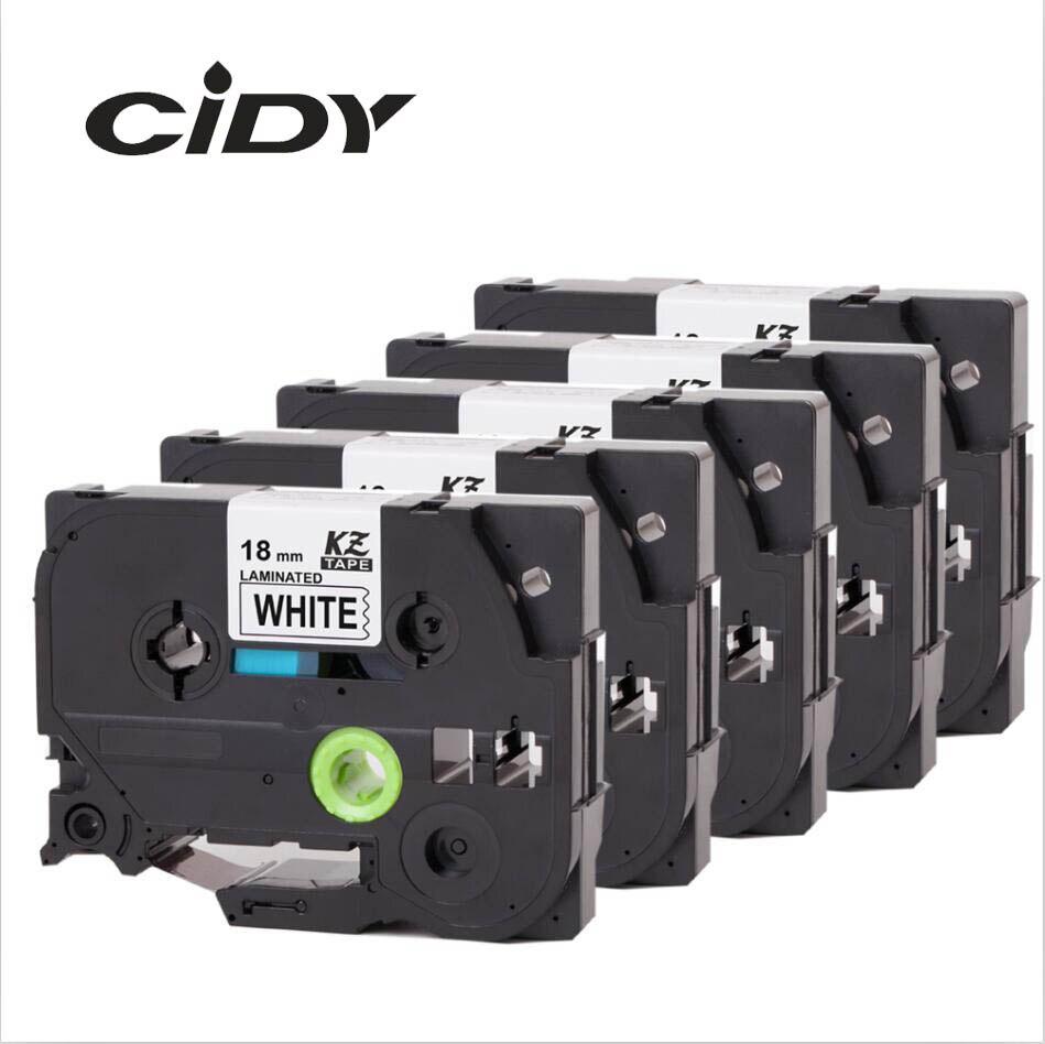 CIDY 5pcs Compatible p touch laminated tze 241 tz241