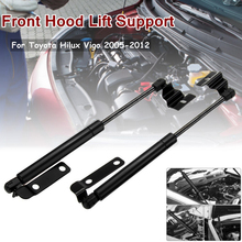 цена на 1 Pair Front Hood Lift Support For Toyota Hilux Vigo 2005-2012 Aluminum Hood Lift Gas Strut 36.5cm Gas Shock Strut Damper