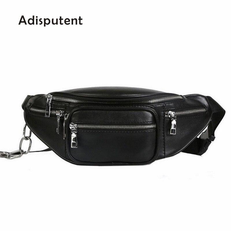 Adisputent New Women Waist Bag Multifunction Women Waist  Female Fashion Leather Phone Bags Small Belt Bag Cool  Packs