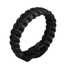 Outdoor EDC Tool survival kit Military Emergency Survival Bracelet Men Women Unisex Rope Charm Bracelets camping equipment