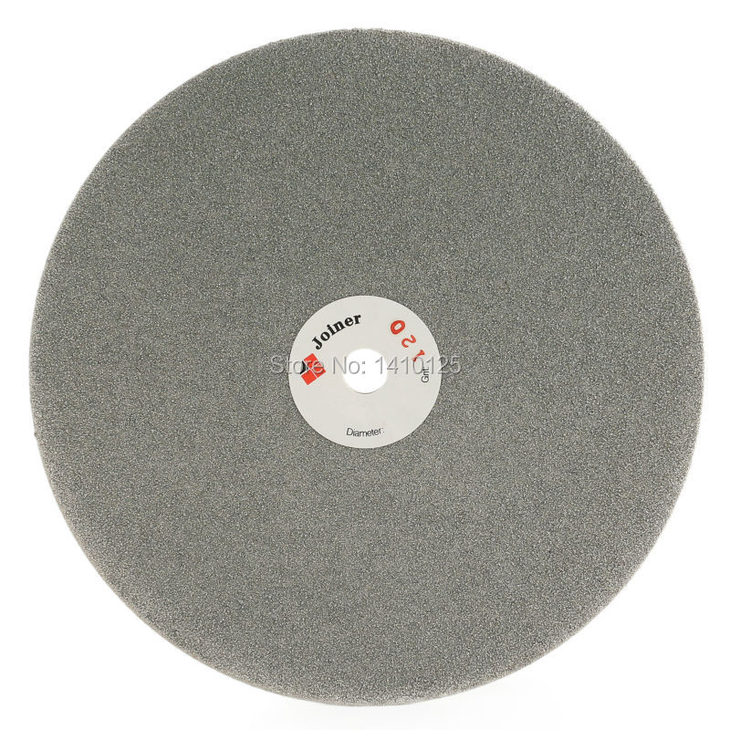 8 inch Grit 120 Coarse Diamond Abrasive Wheel Coated Flat Lap Disk Grinding Disc Lapidary Tools for Stone Jewelry Glass Ceramic imperforate 8 inch diamond grinding disc coated flat lap disk jewelry tools ilovetool