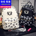 2016 Spring & Summer Trend Women's Cat Backpacks Girls' Fashion Bag Travel PU leather Bags Students' Backpacks women bag baobao