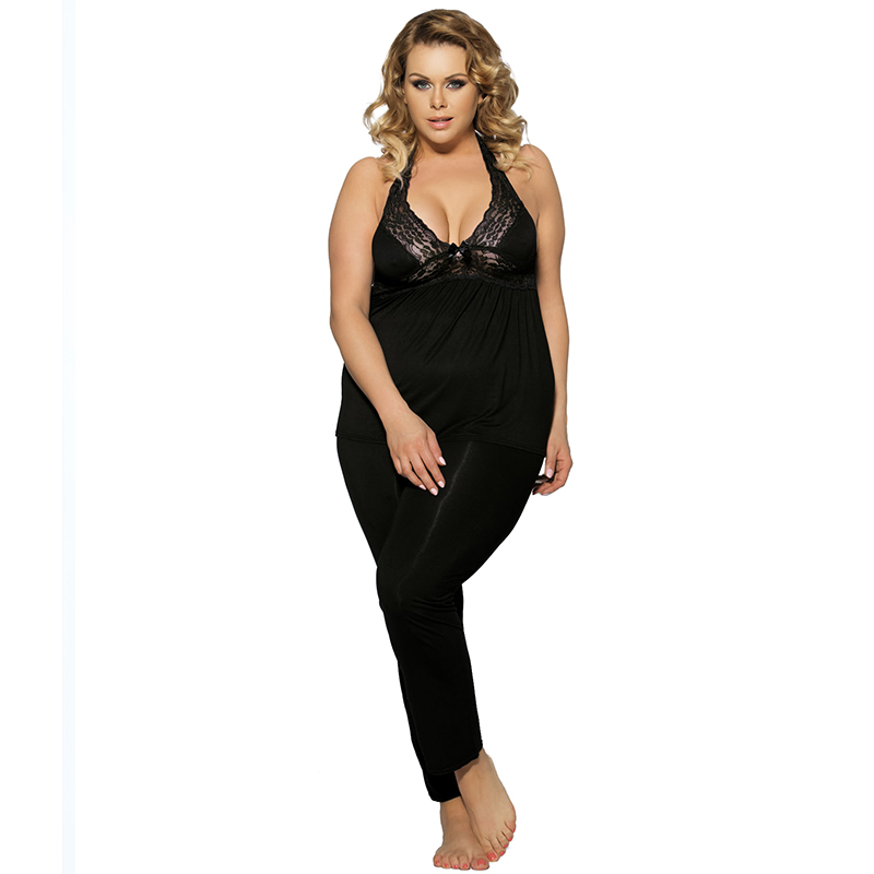 Woman Pajamas Cotton Plus Size 6XL Pyjama Femme Ete Halter Pyjamas Women  Lingerie Porno Casual Nightdress Sleepwear R80160