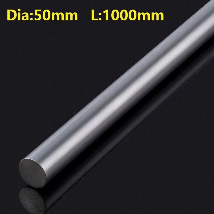 1pcs 50mm linear shaft 1000mm long 50x1000mm hardened chromed plated steel rod   1pcs 50mm linear shaft 1000mm long 50x1000mm hardened chromed plated steel rod