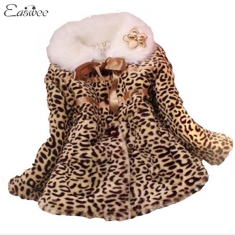 Retail 1PC autumn winter children clothing baby girls leopard ...