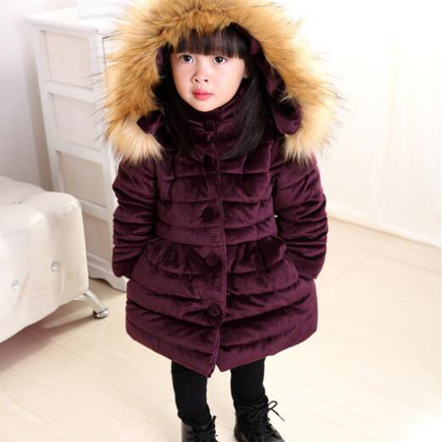 f0396a043ad2 Halilo Girls Winter Coat Warm Children s Winter Jackets Kids Clothes ...