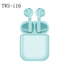 New TWS i16 Smart Bluetooth 5.0 earphoes earbuds earplugs binaural stereo noise reduction waterproof touch control charging box