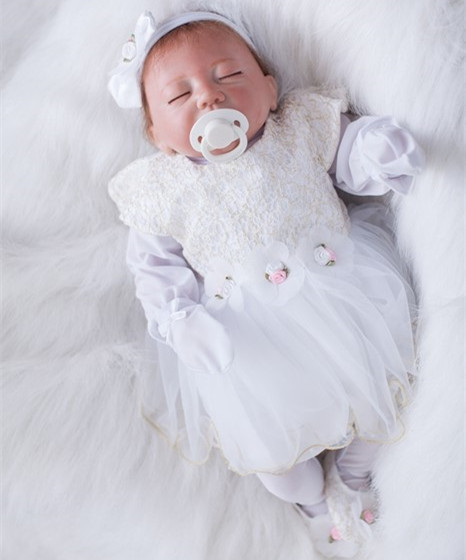 50cm Silicone Reborn Baby Doll Toy Lifelike Real Touch Baby-Reborn Sleeping Newborn Girl Doll Kid Play House Toy Girl Brinquedos keyzi купальник