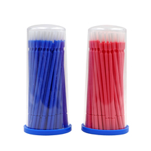 100pcs Dental Applicator Sticks Apply Medicine Brush Long Disposable Microfiber Brushes Oral Micro Wipping Tools