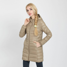 Johnature, женское белое пуховое пальто, S-7XL с капюшоном, Осень-зима, новинка размера плюс, женская одежда на молнии, одноцветные пуховые пальто