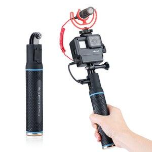 Image 1 - ハンドグリップバッテリー移動プロヒーロー 7 6 5 5200 5600mah バッテリー充電器パワー銀行グリップハンドヘルド一脚 Selfie スティックアクションカメラ用