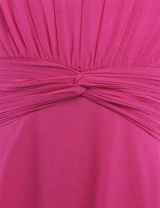 Image 5 - Iefiel 소녀 쉬폰 매듭 허리와 파란 꽃 소녀 드레스 공주 미인 대회 결혼식 신부 들러리 생일 파티 여름 드레스