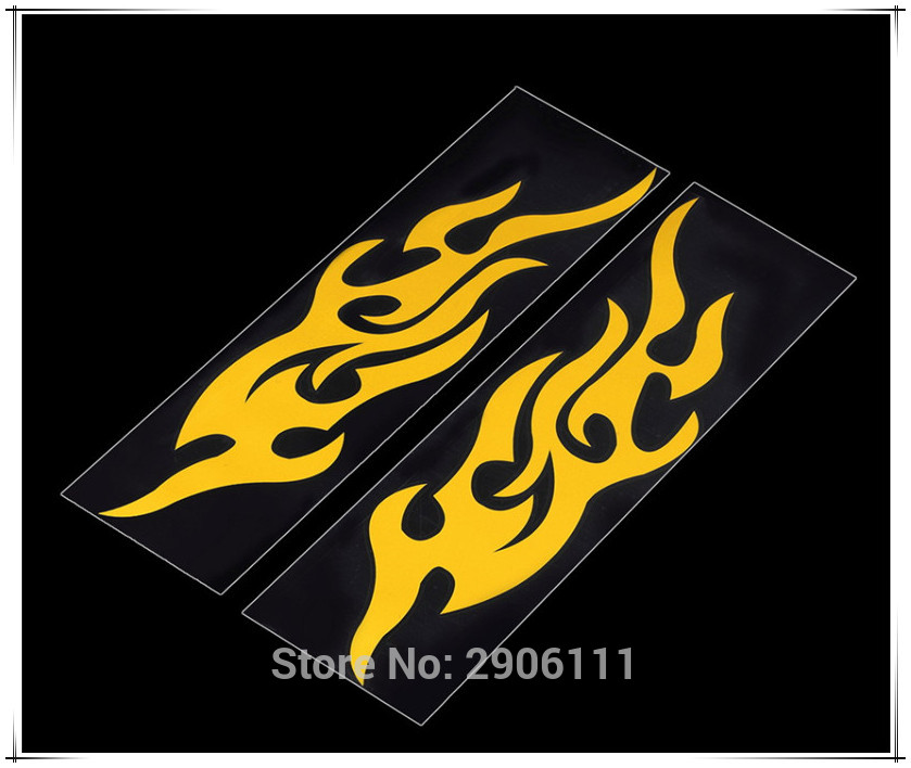 Universal Car Sticker Styling Motorcycle Decal Accessories Auto Flame Fire For Peugeot 307 308 207 3008 2008 407 508 206 208 406
