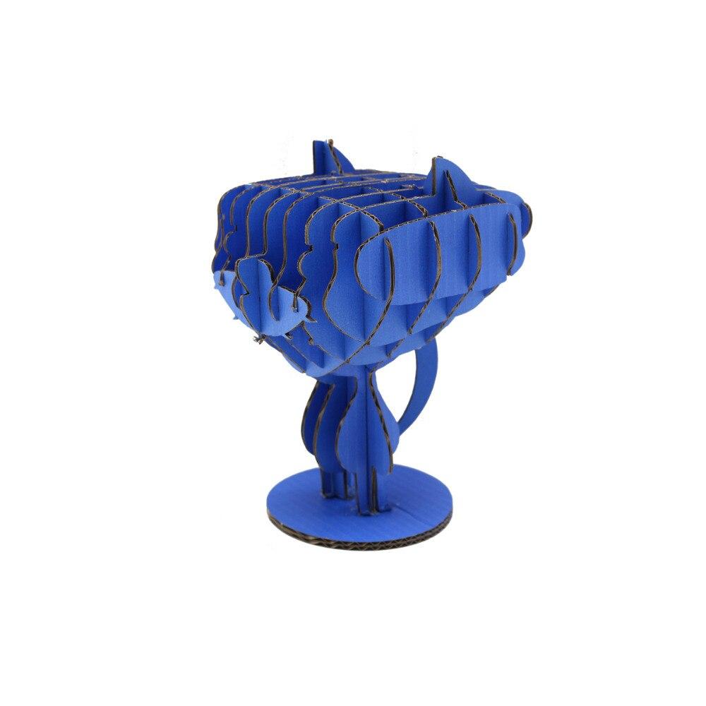 Синий Мартин dezico серии 3d головоломки модель картон DIY ручной Творческий интеллектуальные образовательные Бумага Craft Детские игрушки
