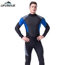 Новый LIFURIOUS Бренд Breathable Neoprene Dive Wetsuit Men Diving Suit Полный комбинезон для тела Мягкая подводная охота Серфинг Купальники