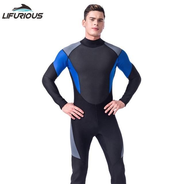 New LIFURIOUS Brand Soft Neoprene Dive Wetsuit Men Diving Suit Full Body Jumpsuits Breathable Spearfishing Surfing Swimwear