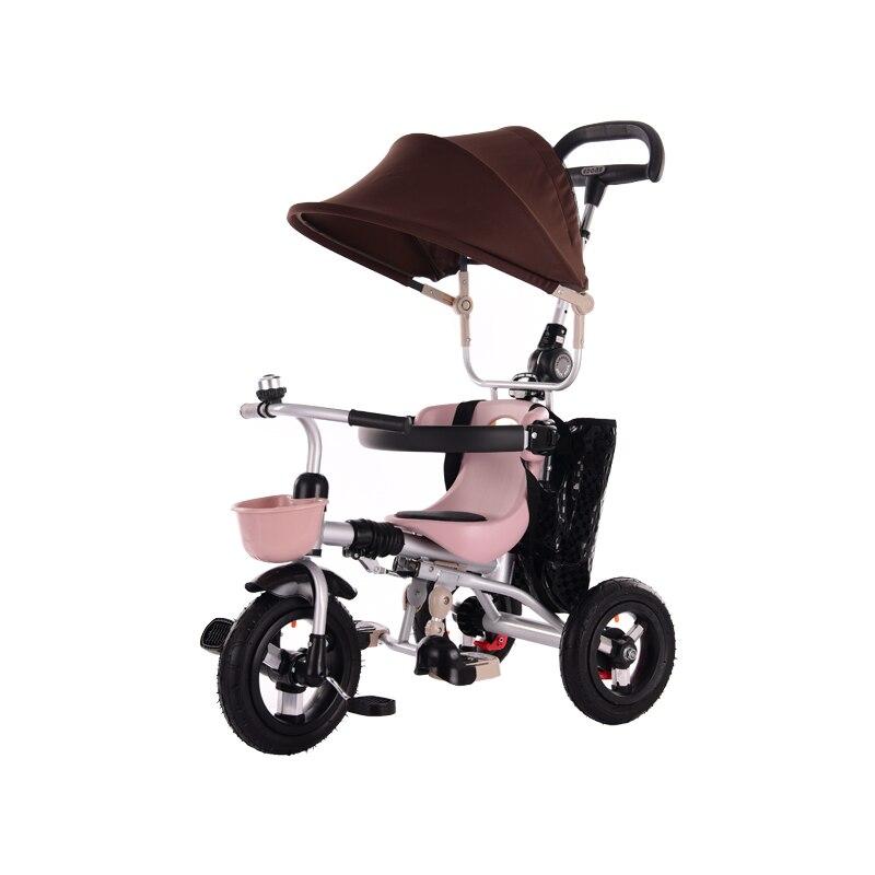 Abdo 2019 New Children's Tricycle Portable Folding Children's Bicycle 1 To 3 To 5 Years Old Folding Rideable Children's Trolley
