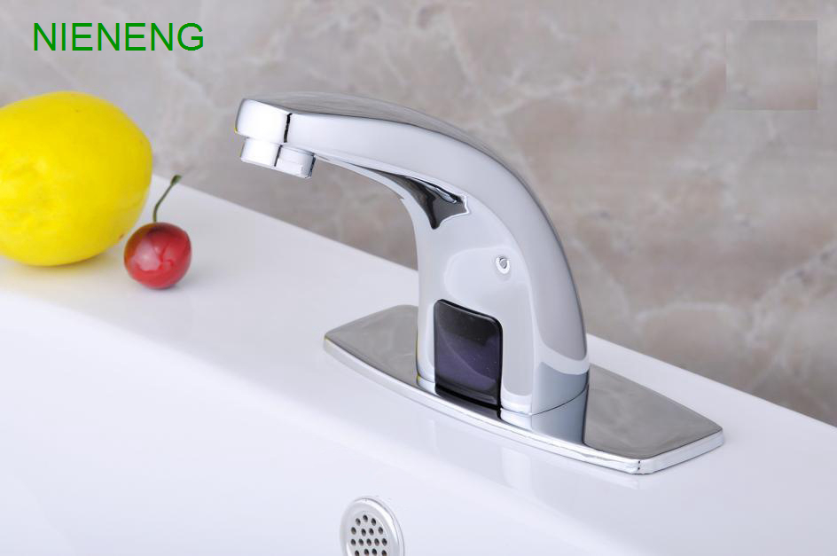 ... NIENENG Sensor Tap Bathroom Sink Faucets Cold Water Automatic Restaurant  Accessories Basin Hospital Appliance Taps ICD60232 ...