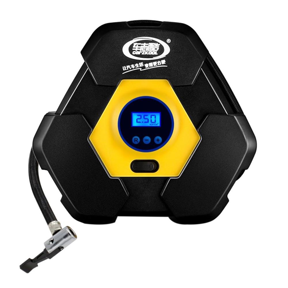 Digital Display Car Tire Inflator Pump Auto Electric Air Compressor 12V 120W with Cigarette Lighter Plug for Car Tyre Emergency