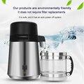 Бытовой 4L дистиллятор для воды дистиллированная машина для дистилляции Очиститель фильтр из нержавеющей стали стоматологический лаборато...