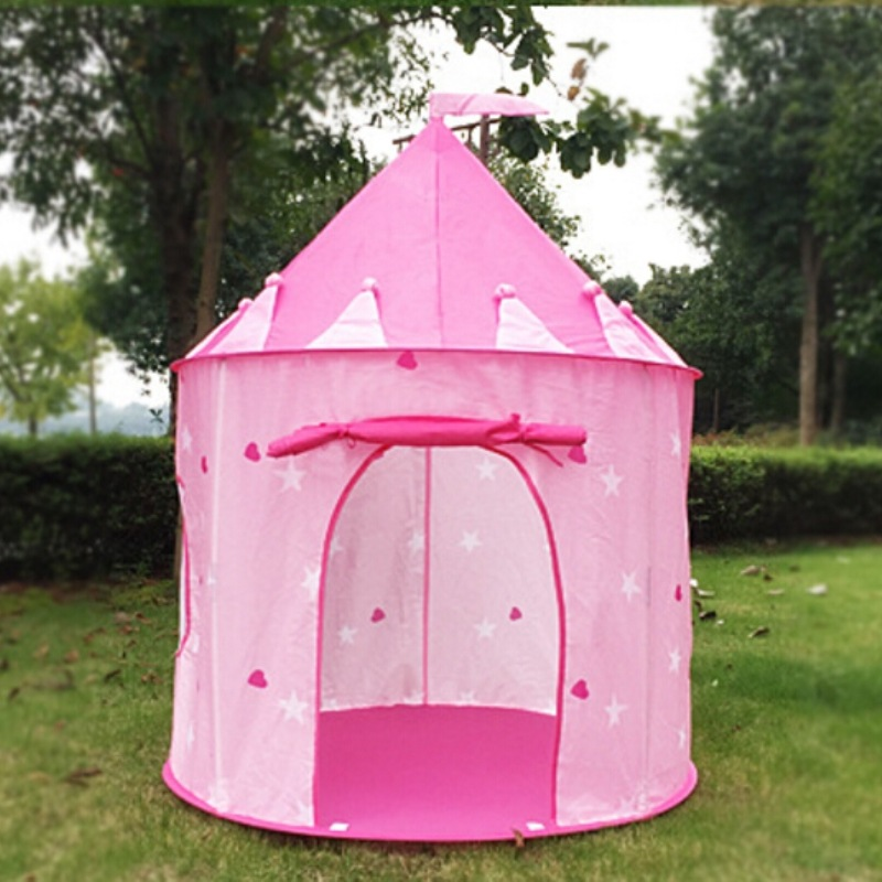 Portable Castle Play Tent Tipi Prince Folding Tent Children Boy Play House Kids Gifts Mosquito Net Outdoor Toy Tents