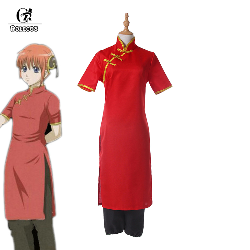 ROLECOS New Arrival Anime Gintama Cosplay Costumes Kagura Adults Chinese Costume Cosplay For Girl Cosplay Costumes Full Set