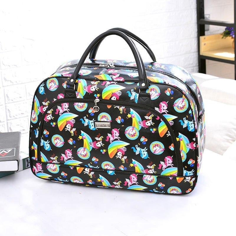 Women Travel Duffles Floral Leather Duffel Bag Traveller Woman Duffle Bags Travel Bag Hand Totes Borsone Pelle