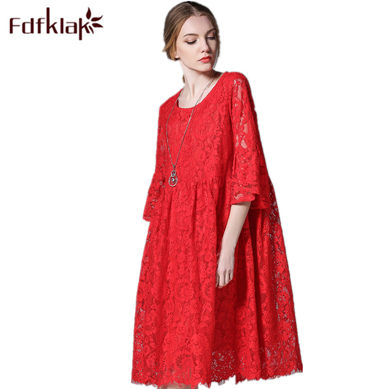 Fdfklak Black/Red High Quality Lace Maternity Dress Pregnant Dress Summer A-Line Plus Size Maternity Dresses XL-4XL F48 все цены