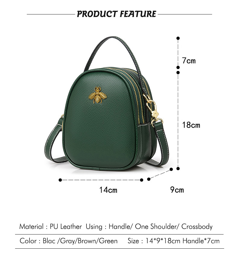 1267a4bd1be8 Dropwow Mnee Luxury Leather Hand bags Women 2018 Small Wasp Vintage ...