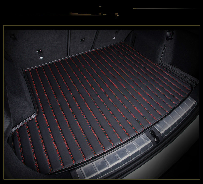 Custom special car trunk mats for LEXUS CT ES GS IS LS LX NX RX waterproof durable cargo rugs carpets special rubber latex green car trunk mats case for benz smart desinged for original car model