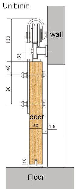 5FT-8FT Rails de porte de grange flèche roue noir rustique simple porte coulissante de grange système de voie de porte matériel de voie coulissante Kit piste - 5