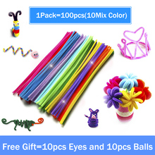 100pcs Assorted Color Plush Shilly Chenille Sticks DIY Creative Chenille Stems Pipe Cleaner Stem Craft Toys for Children