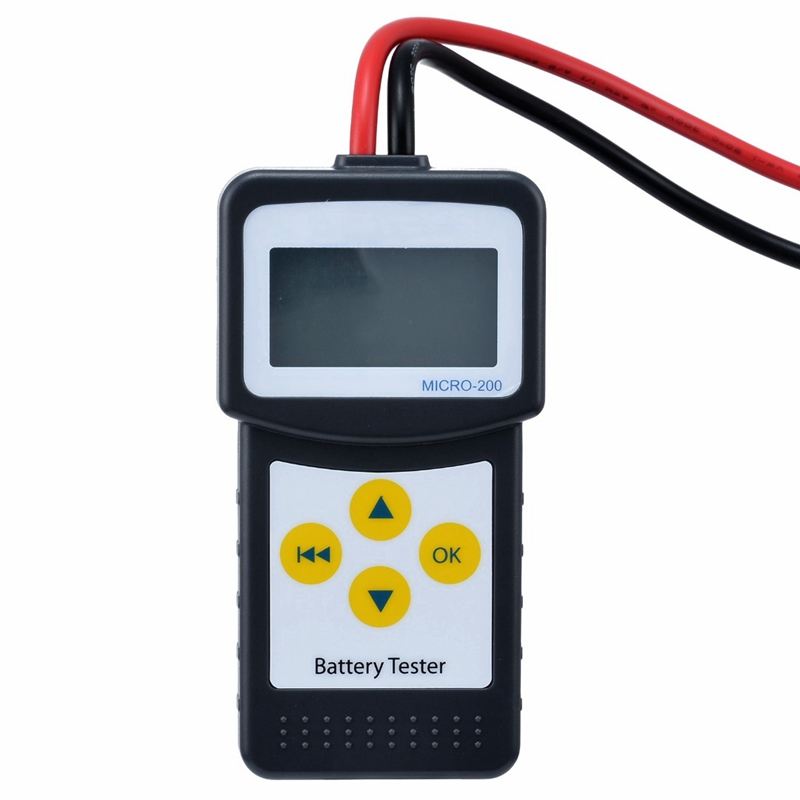Professional High Accuracy 12V Automotive Car Battery Load Tester Multi-language 30-200Ah With USB For Printing Battery Meter foxwell bt100 pro 6v 12v car battery tester for lead acid flooded agm gel 1100cca 200ah test 6 v 12 volt automotive analyzer new
