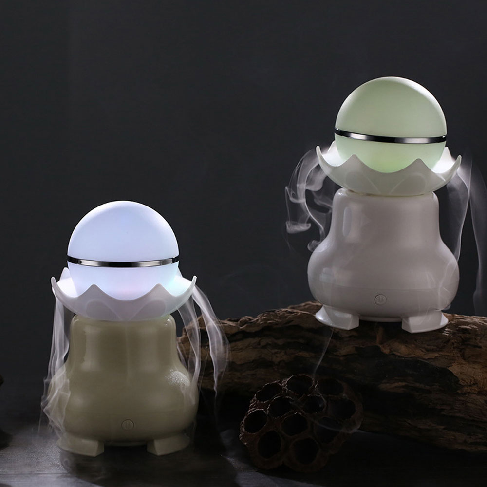 USB Pearl Humidifier Mini Air Purifier Aroma Diffuser Essential Oil Diffuser Air Humidifier With 7 LED Color Changing Lights