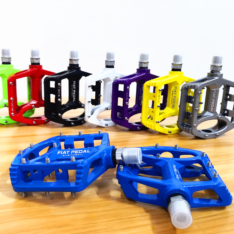 1 Pair 7 Colors Platform Magnesium Alloy Road Bike Pedals Ultralight MTB Bearing Bicycle Pedal Bike Parts Accessories