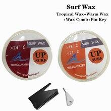 Surfboard WarmCoolTropical Water Wax  2 per set +Wax Comb+ Surfing SUP