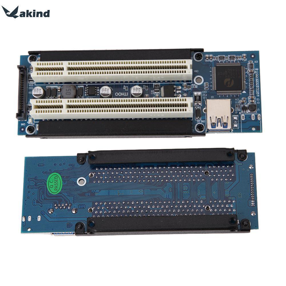 Alta calidad pci-e expresa X1 dual PCI Riser extender adaptador de tarjeta con 1 M USB3.0 cable para WIN2000/ XP/Vista/Win7/Win8/Linux