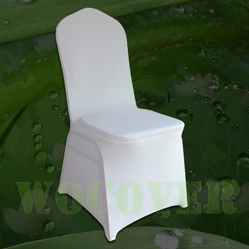 100 White Chair Cover Stretch Elastic Universal Spandex